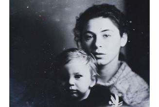 With the son David. 1993