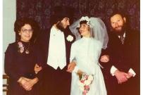 First wedding, England, 1974