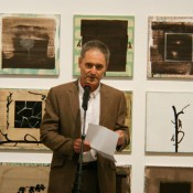 Larry Abramson at the opening