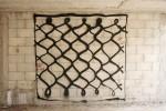Geva Tsibi. Kefiyeh, sketch for wall painting, 2008. Spray paint on block wall 200x200 cm