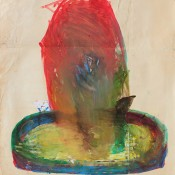 Fountain. 1970  Tempera on paper. 86.5 х 77