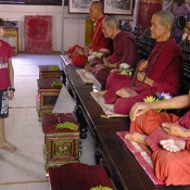 Wax monks. Chiang Mai