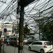 Chiang Mai - electric wires everywhere