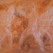 Quadriptych in Terracotta, 190 X 400, 2015. Stage I.